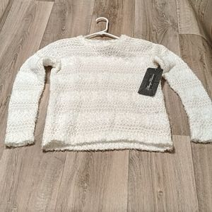 Almost famous white sweater size small